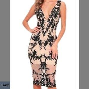 Bardot Embroidery Dress